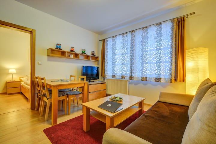 Čtyřlůžkový mezonetový apartmán