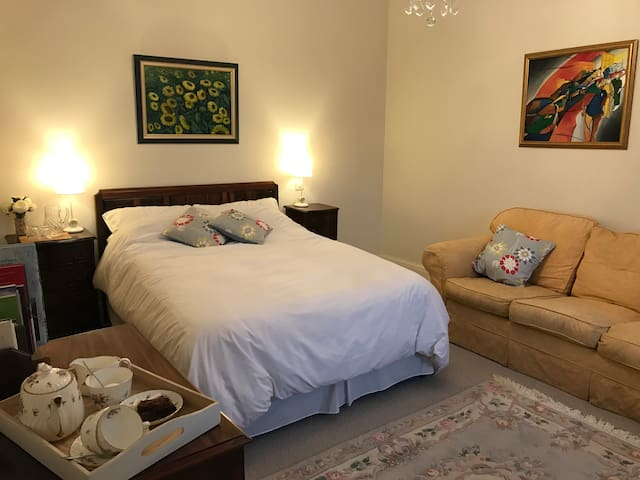 The Blue Room - Double Bed with 3 seater sofa