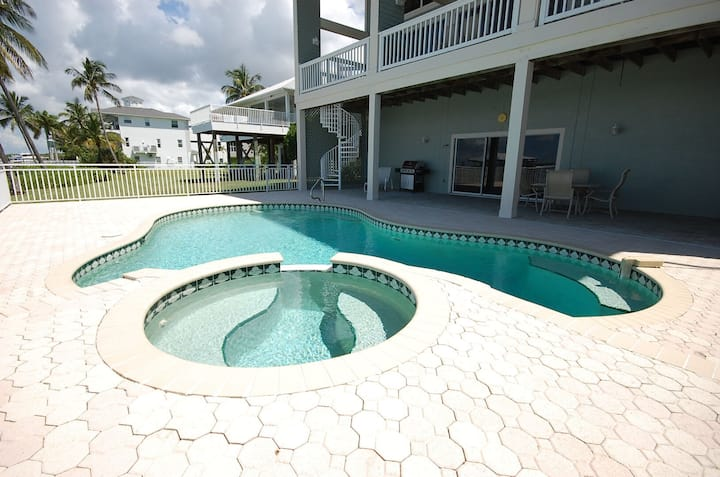 Bayfront Newly Renovated 1 BR Apartment, Heated Pool & Dock, Walk to Beach!
