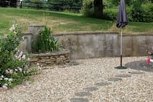 Patio by side of Annexe