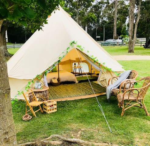 South Coast Luxury Camping 5 Star Belle tent hire