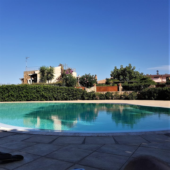 Villa Isabella with Garden, Terraces & Shared Pool; Street Parking Available