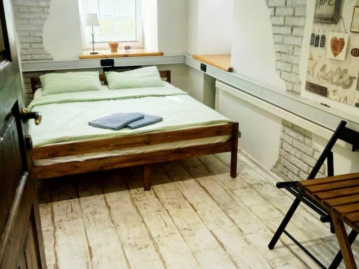Double room with shared bathroom. Hostel Author Taganka
