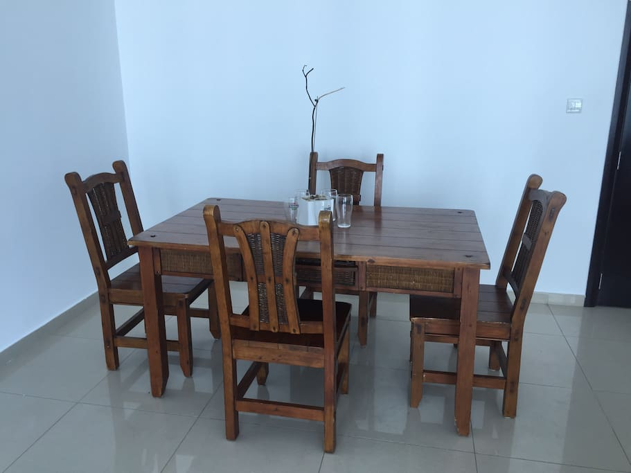 Authentic solid wood Dinning table