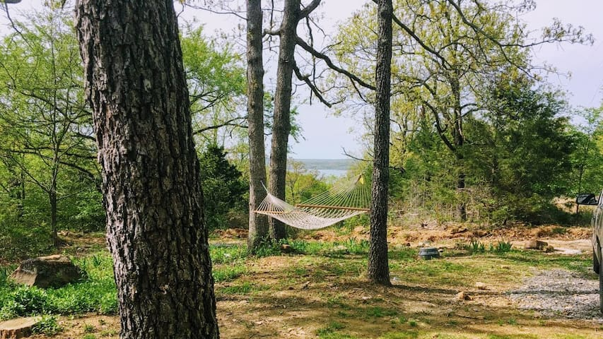 Enjoy the lake view from the hammock