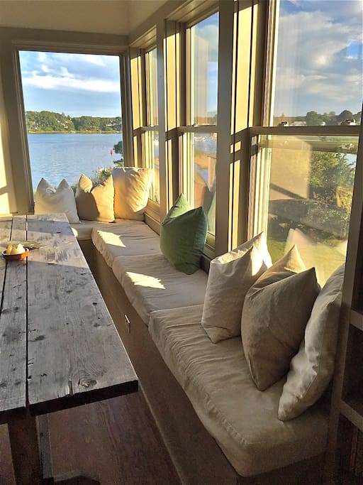 Lovely Window Seat at Dining Table