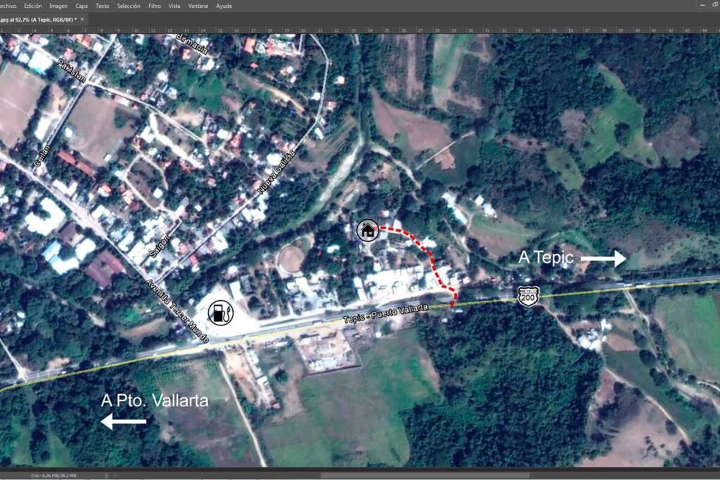 A 15 minutos del pueblo y rápido acceso a la carretera salida a puerto vallarta