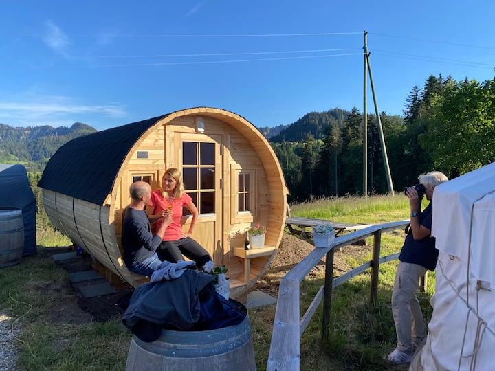Wohnfass 2-4P, SPA (Sauna, Hot Tub/Jacuzzi)