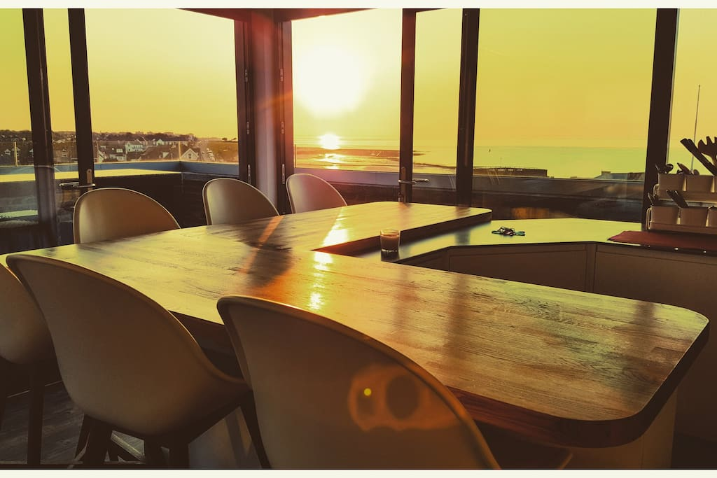 The recently extended breakfast bar is a great spot to watch the sun set