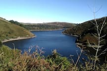 Just 6 miles from Cil Haul is Llyn Clywedog Reservoir
