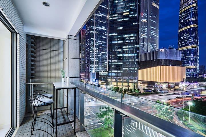 【天空之城】正常营业 兴盛路珠江新城80平 高端公寓 W酒店美领馆 IGC K11 高层无敌景观。