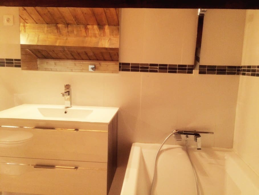 Salle d'eau privée avec WC
