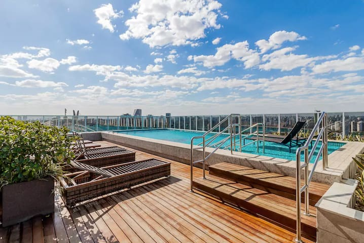 Roof Pool & Gym, Zen Retreat in Brooklin Sao Paulo