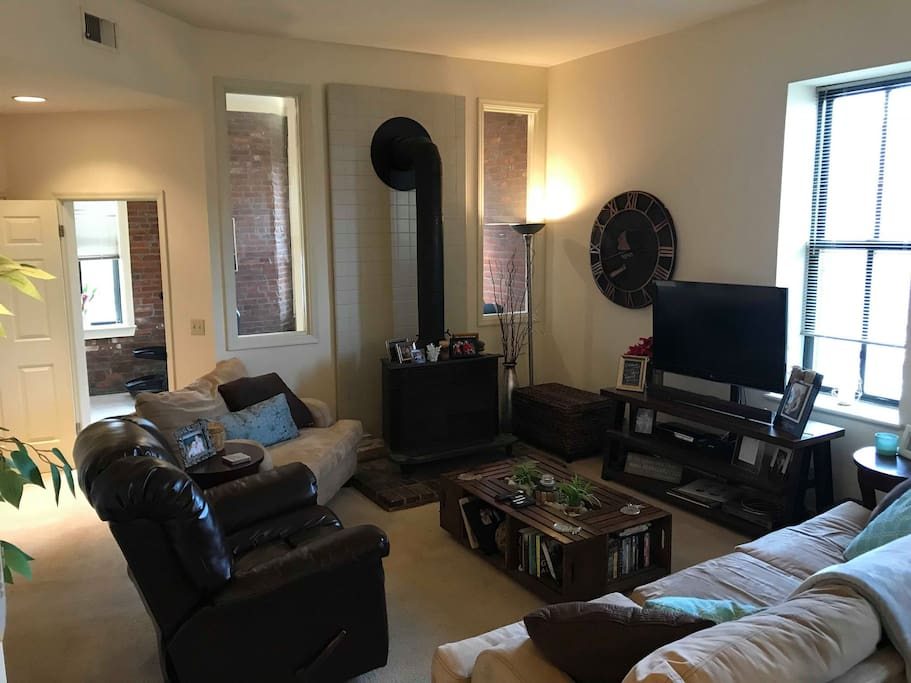 Living room view from hallway