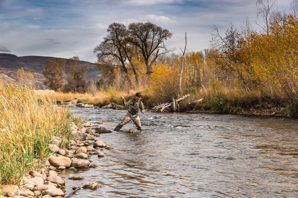 Just a short walk to some of the best fly fishing in Utah