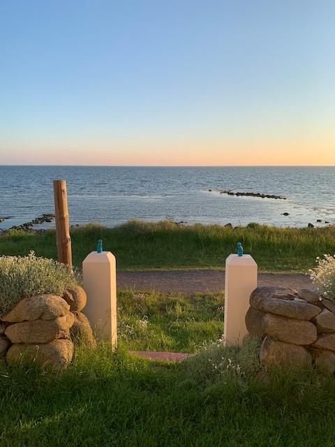 Cottage Strandridaren, fronte mare con vista sull'oceano