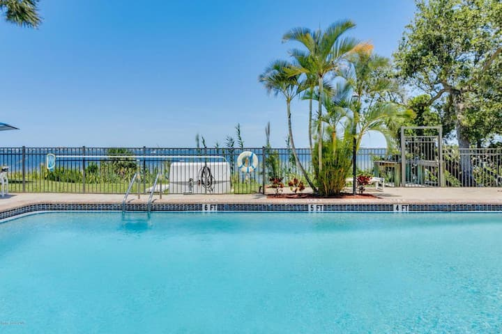Spacious Condo Living,  Indian River View Poolside