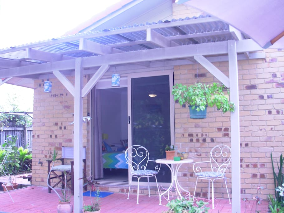 Patio area to relax and enjoy your morning cuppa or meals