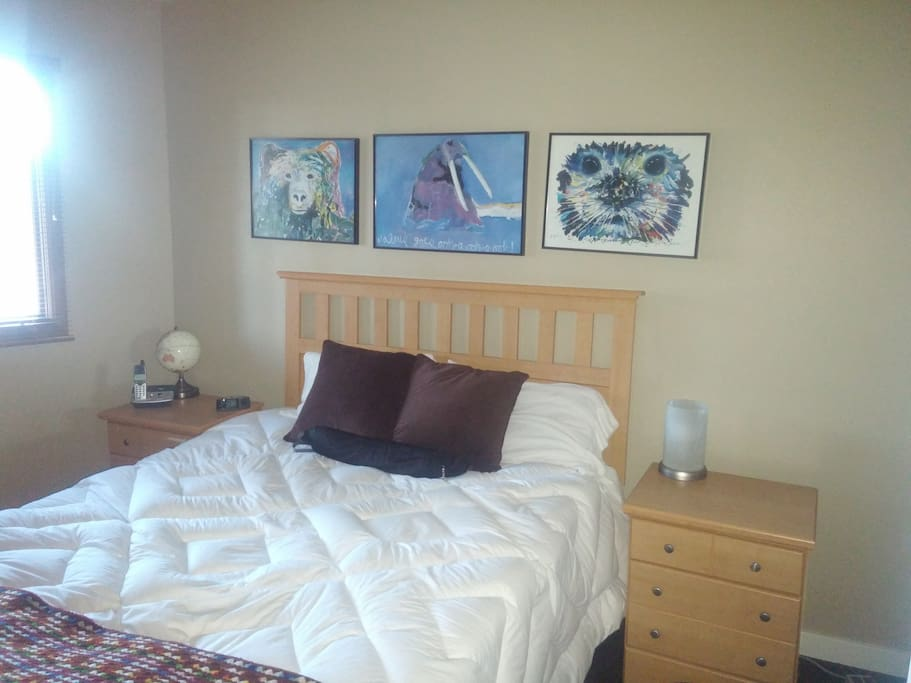 One of two bedrooms