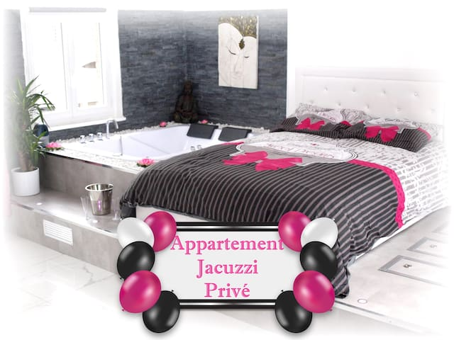 Jacuzzi Suite Privatif Loft Romantique (Centre)