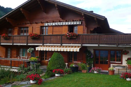 CHAMBRES OU APPARTEMENT COMPLET  CHALET LE MOURDZI - Leysin - Bed & Breakfast