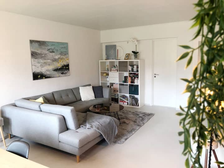 Åpen og lys leilighet nær Tyholttårnet i Trondheim