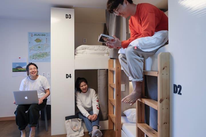 [혼성 6인실] mixed 6-dorm BED RADIO 호스텔