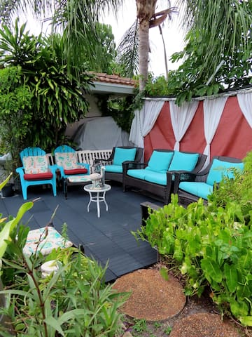 With 6 patio areas set for you to relax and have time for your self ... Change is good & Angel's Sanctuary Is Healing, Peaceful, Relaxing, Fun