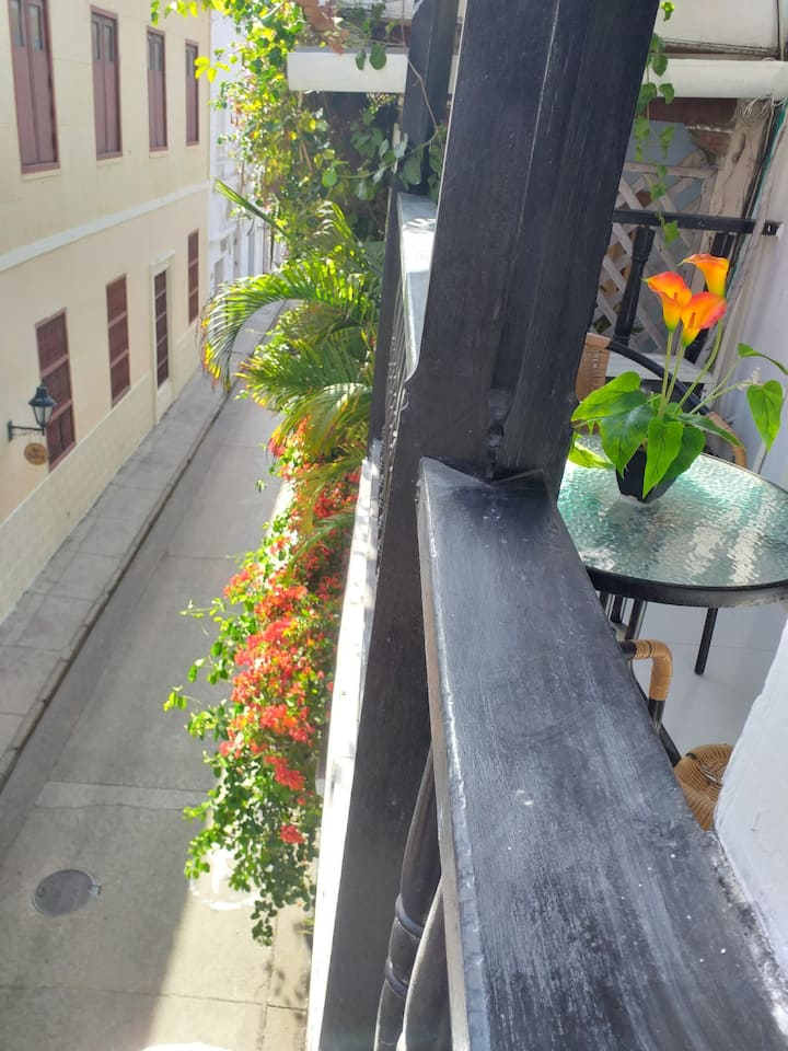 Cute apartment in Historic Center with balcony.