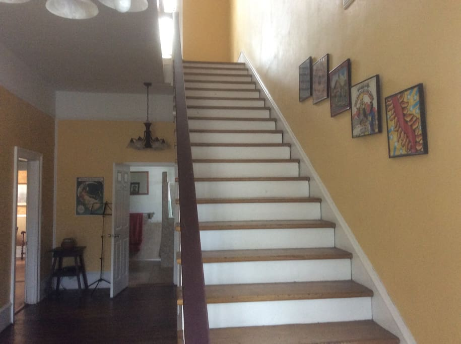 Stairway to guest quarters.
