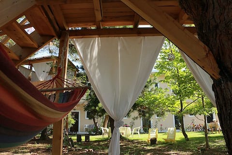 Beachfront studio in Corfu , Relax to treehouse