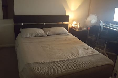 Private bedroom with Queen bed and bathroom. - Waterloo