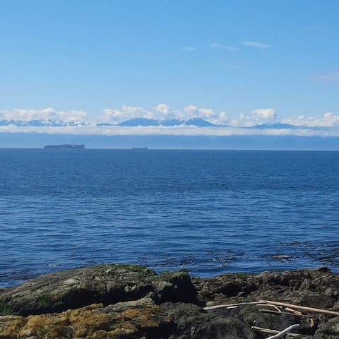This beach and view is in walking distance at Fort Worden.