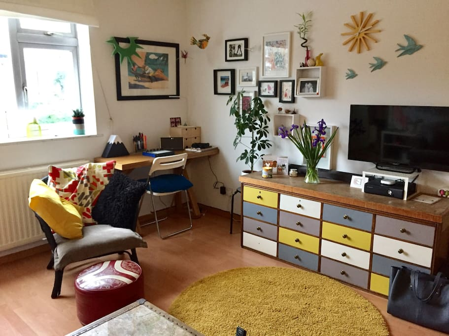 Bright, spacious living room