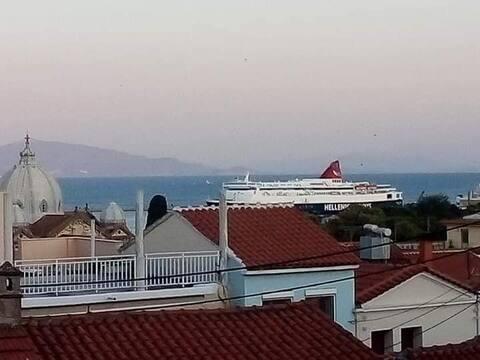 Aspa's  house,centre of mytilene, amazing view