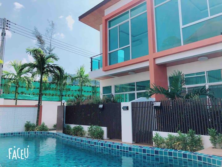 【Free Pickup】3BDR private NEW pool villa in Kamala