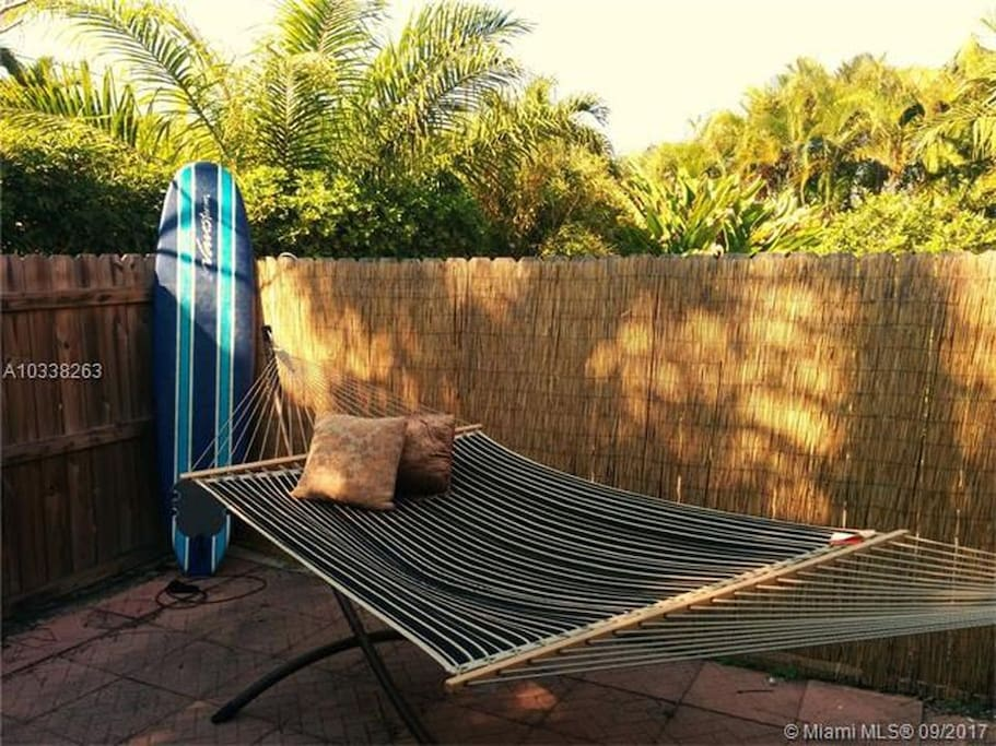 Backyard (Hammock and surfboard not included)