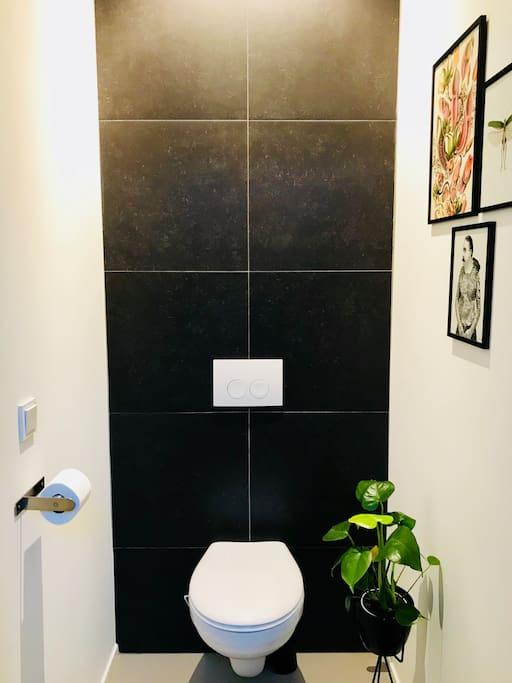 Toilet behorend bij souterrain