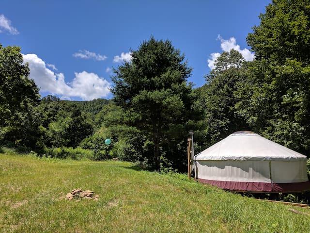 Gorgeous Yurt, Trout Stream, Blue Ridge Parkway