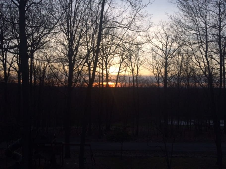 Sunset - View from deck