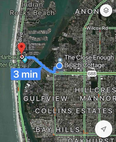 Google map to IRB from front door.