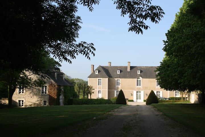 A charming house inside an historical castle park