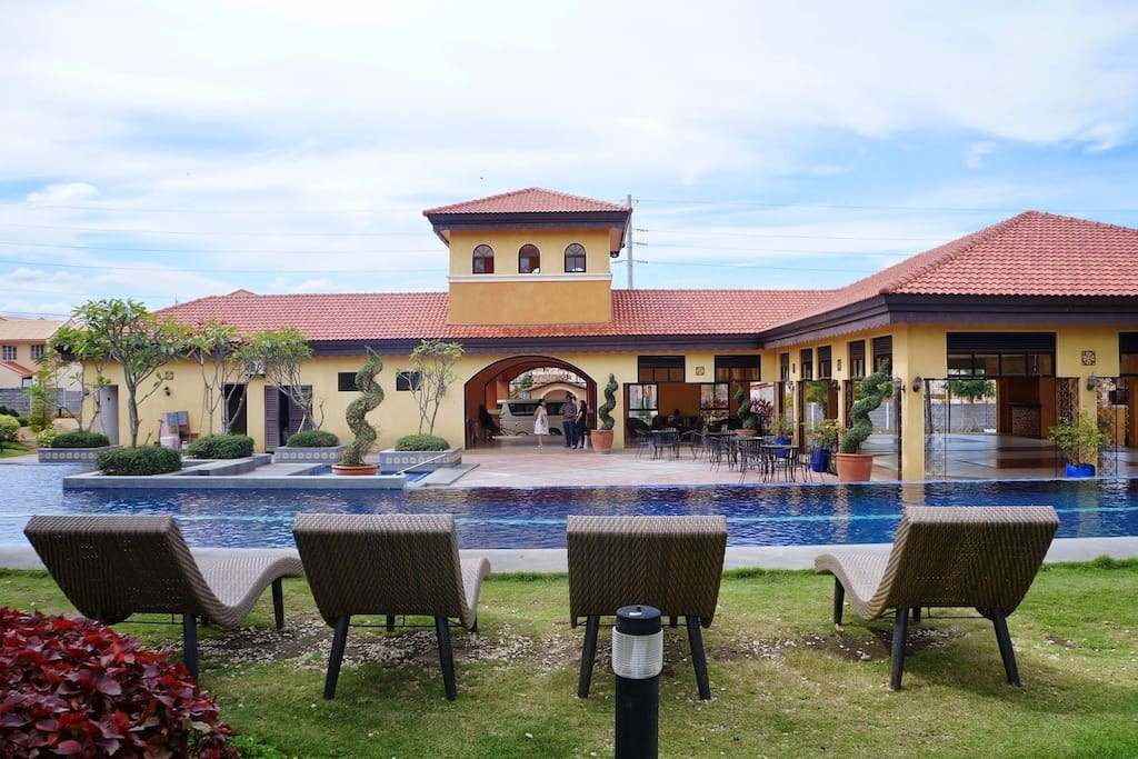 Shared pool and the club house. for event