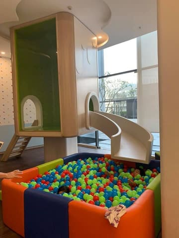 Playing zone for kids downstairs