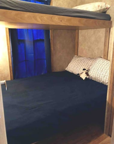 Bunk room - twin over double (bed rail available)