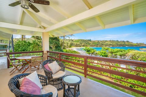 Moloa'a Beachfront Home with A/C!