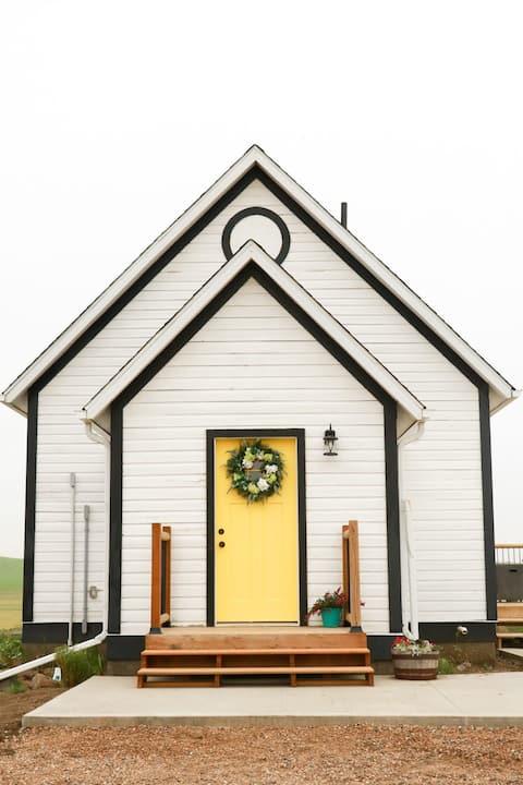 Cozy One Room Schoolhouse on the Prairie