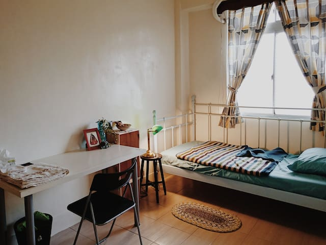 Central & Cozy Room  1 min to Daan Forest Park - Da'an District - Appartement