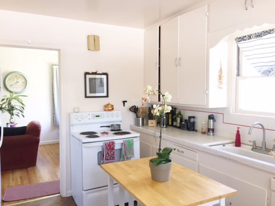 Clean and fully equipped kitchen to cook those savory meals or bake those delicious desserts your body craves after a busy day.