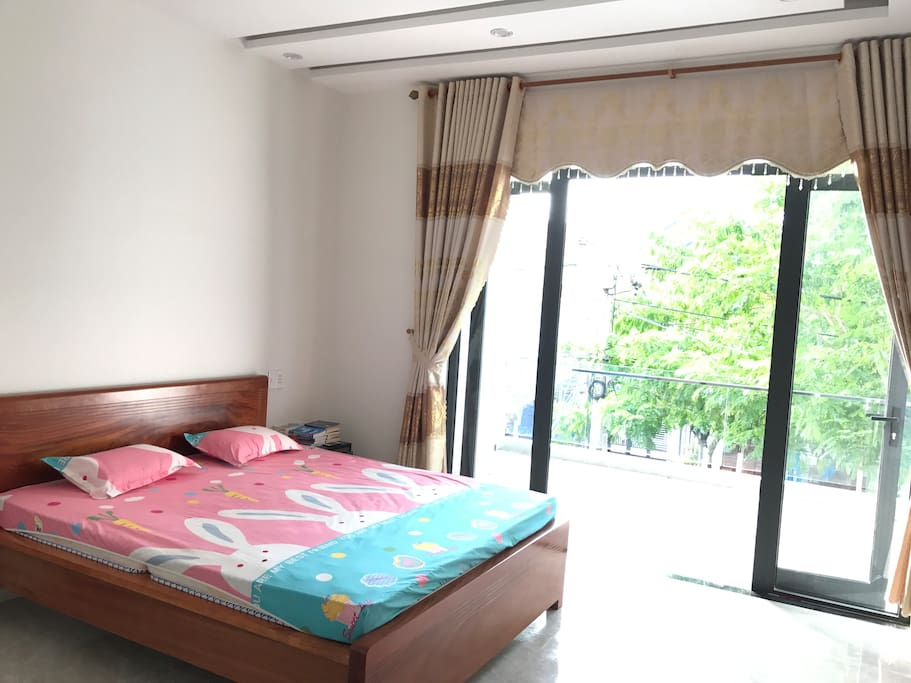 Bedroom 1, 25m2, clean and clear, view tree